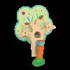 Vertiplay Игрушка на стену - Занятой дятел